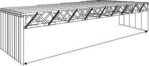 Batiment prefab Honco TP 3000 avec charpente metallique pour une portée libre totale