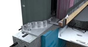 Détails installation sur la fondation des murs en panneaux structural pour bâtiment autoportant