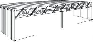 Сборное стальное здание с плоской крышей Honco TP-4000 обеспечивает максимальную универсальность и долговечность. Подходит для любого строительного проекта, где имеет значение быстрота строительства.